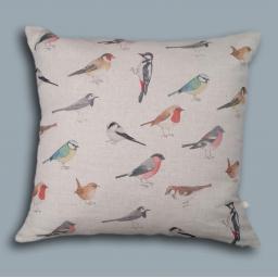 Bird cushion - garden birds