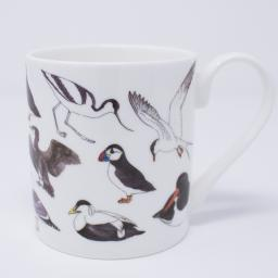 Mug with bird design - sea birds