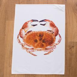 tea towel with crab design