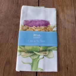 tea towel with Artichoke design in packaging