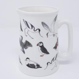 Jug, half pint jug with sea birds design