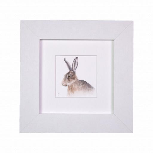 Hare Profile Mini Print