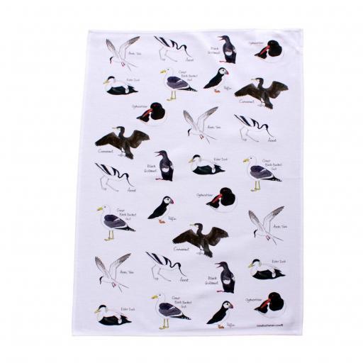Sea birds tea towel
