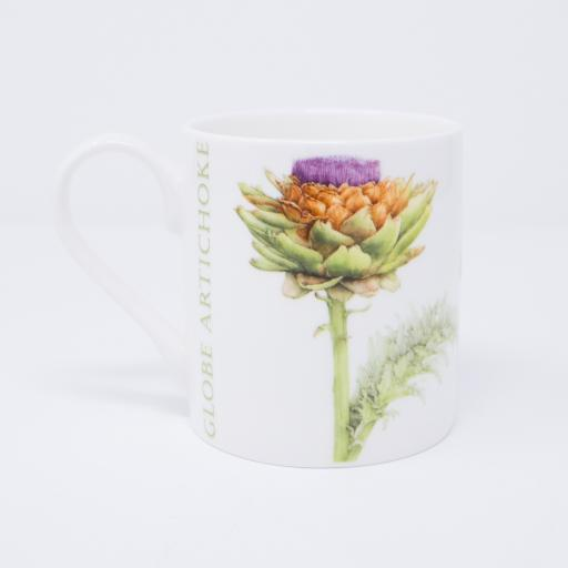 Mug with artichoke design