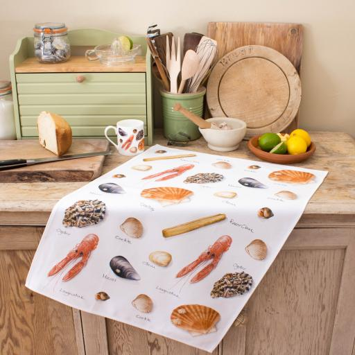 Tea Towel Shellfish