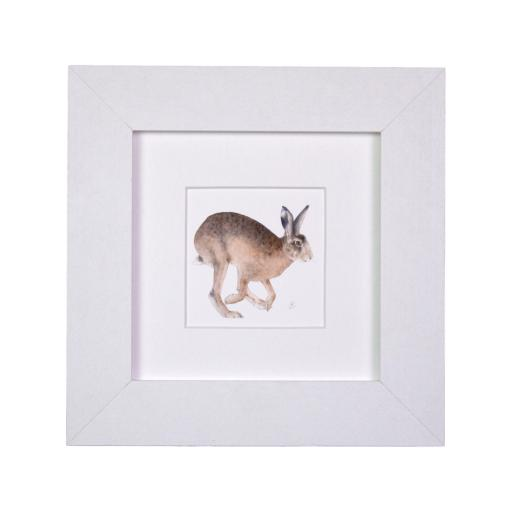Hare Running Mini Print
