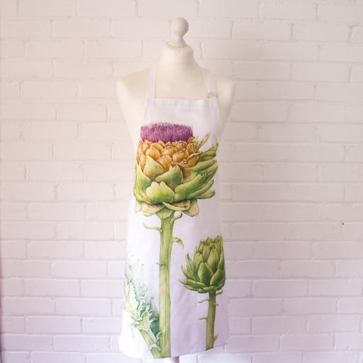 Apron - Artichoke design on model