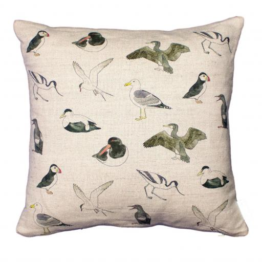 Bird cushion - sea birds