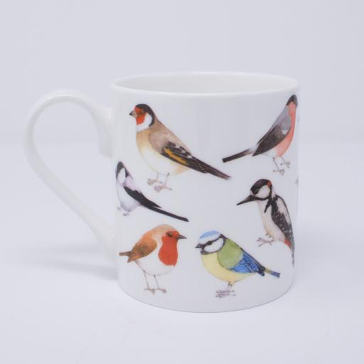 Mug with bird design - garden birds