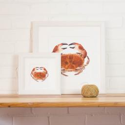 small & med crab framed.jpg