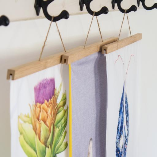 Tea Towel and fabric Hanger