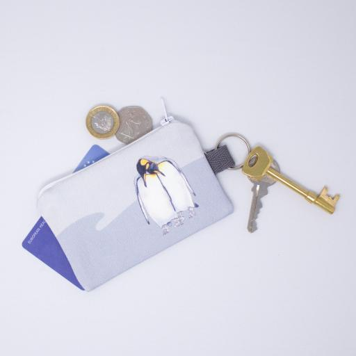 King Penguin key fob purse