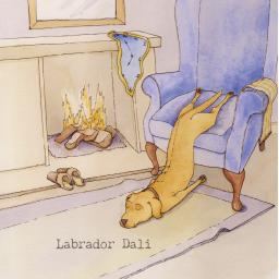 Labrador dali card front.jpg