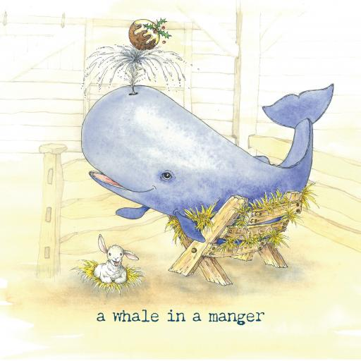 A whale in a manger