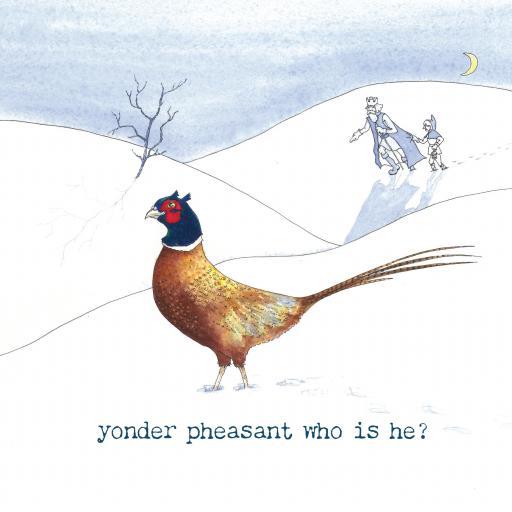 Yonder pheasant xmas card front.jpg