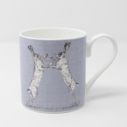 Boxing Hares Mug