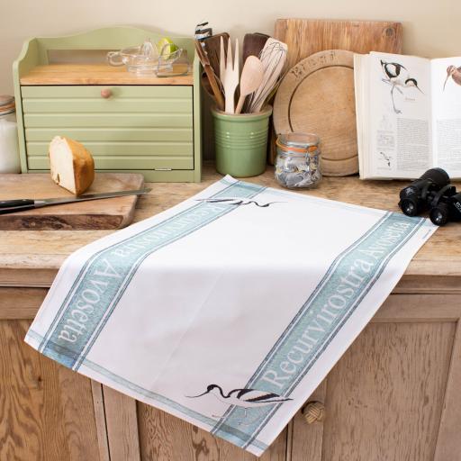 Avocet tea towel